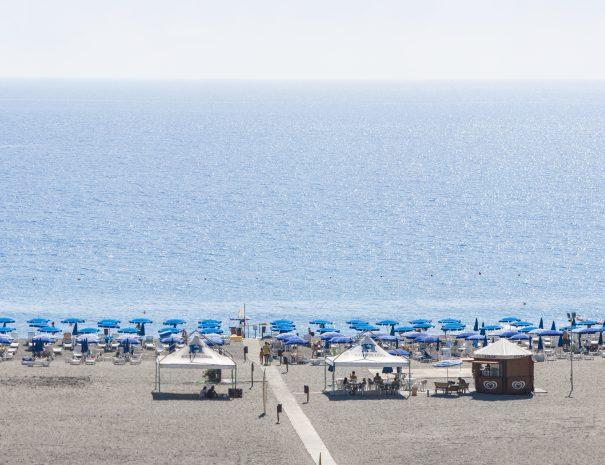 Il lido sulla spiaggia del Villaggio vacanze Eurolido