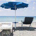 Lido in spiaggia del villaggio sul mare in Calabria