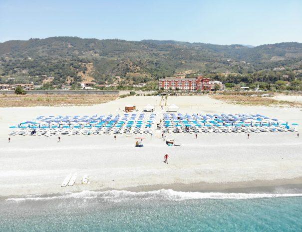 La spiaggia dell'Eurolido, un villaggio vacanze in Calabria direttamente sul mare