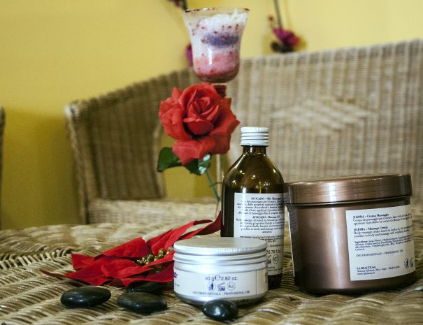 i prodotti del centro benessere del villaggio
